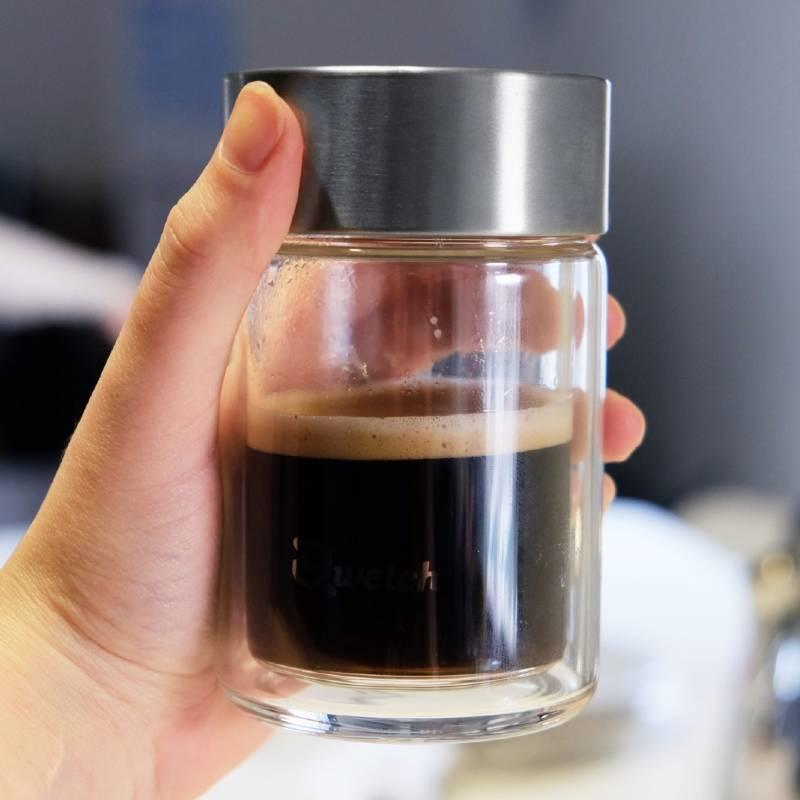 Mug personnalisé en verre double paroi, donc isotherme