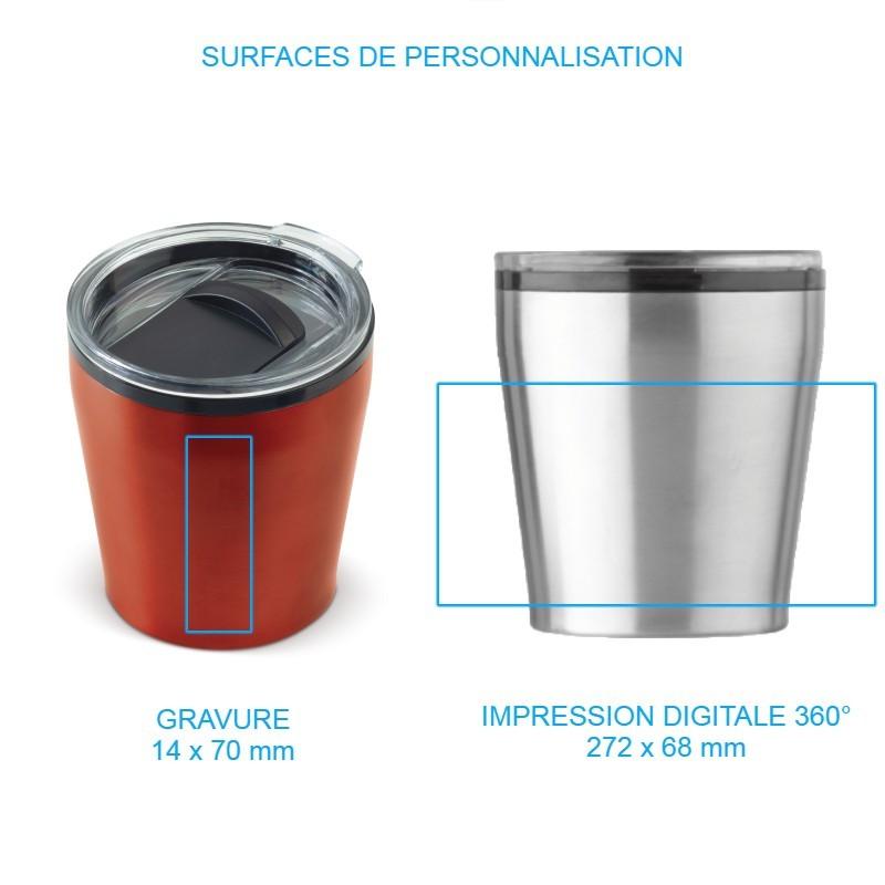 Mug publicitaire isotherme avec impression à 360°, par Pimp my bottle