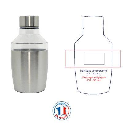 Bouteille isotherme et personnalisable, fabriquée en France